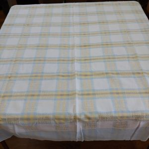 Other - VINTAGE Plaid Square Table cloth, Blue, Yellow